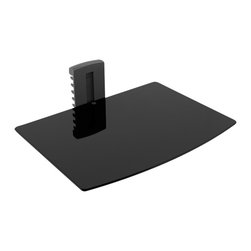 Sonax - Sonax Media Player Wall Shelf in Black - Sonax - Audio Racks - C701SCM - Maximize your living space with the new DVD wall shelf by Sonax. Featuring smooth curved edges this sleek Black tempered glass shelf is the ideal size for your DVD player or PVR. Adjustable shelf height and a convenient wire management base make this space saving design the simple solution to your home entertainment needs. Modernize your living space with this contemporary design by Sonax.