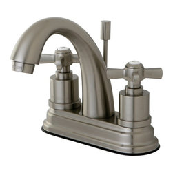"""Kingston Brass - Kingston Brass Millennium Satin Nickel 4"""" Centerset Lavatory Faucet KS8618ZX - This centerset faucet with its """"J"""" spout  will work well with most traditional d_cors, manufactured from solid brass this faucet features ceramic cartridge for long lasting performance.. Manufacturer: Kingston Brass. Model: KS8618ZX. UPC: 663370284014. Product Name: Kingston Brass Millennium 4"""" Centerset Lavatory Faucet, Satin Nickel. Collection / Series: Millennium. Finish: Satin Nickel. Theme: Modern. Material: Brass. Type: Lavatory Faucet. Features: Max 2.2GPM/8.3LPM At 60 PSI"""
