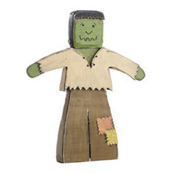 Monster Mash Yard Art - Frankenstein - Let us be FRANK, this frankenstein is no MONSTER-osity! He's crafted from solid wood, weathered for a folk-art effect, with slight metal details. Place him indoor or outdoor during your spooky soiree, monster mash, or haunted Halloween house hunt.