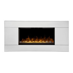Dimplex - Dimplex Reflections 24 in. Wall Mount Electric Fireplace Multicolor - DWF24A-132 - Shop for Fire Places Wood Stoves and Hardware from Hayneedle.com! The Dimplex Reflections 24 in. Wall Mount Electric Fireplace is a scintillating sight in contemporary interiors combining Dimplex's lifelike LED flame with reflective surfaces on both the fireplace front and media bed. A versatile wall-mount design makes this fireplace a great match for living rooms bedrooms game rooms and more. It functions as a powerful energy-efficient heater for rooms up to 400 square feet with thermostat and flame effects that are easily controlled with an included remote. This eco-friendly fireplace creates no harmful particulates or emissions and it's backed by a one-year warranty from Dimplex.About DimplexDimplex North America Limited is the world leader in electric heating offering a wide range of residential commercial and industrial products. The company's commitment to innovation has fostered outstanding product development and design excellence. Recent innovations include the patented electric flame technology - the company made history in the fireplace industry when it developed and produced the first electric fireplace with a truly realistic wood burning flame effect in 1995. The company has since been granted 87 patents covering various areas of electric flame technology and 37 more are pending. Dimplex is a green choice because its products do not produce carbon monoxide or emissions.