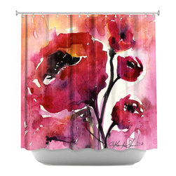 DiaNoche Designs - Shower Curtain Artistic - Floral 17 - DiaNoche Designs works with artists from around the world to bring unique, artistic products to decorate all aspects of your home.  Our designer Shower Curtains will be the talk of every guest to visit your bathroom!  Our Shower Curtains have Sewn reinforced holes for curtain rings, Shower Curtain Rings Not Included.  Dye Sublimation printing adheres the ink to the material for long life and durability. Machine Wash upon arrival for maximum softness on cold and dry low.  Printed in USA.