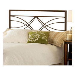 Hillsdale Furniture - Hillsdale Dutton Panel Headboard with Rails - Full/Queen - The Hillsdale furniture Dutton bed is a fabulous mix of angles and sweeping scrollwork. The brown crystal finish is a handsome compliment to today's popular earth tone inspired decors. Fully-welded construction featuring heavy gauge tubing. Some assembly required.