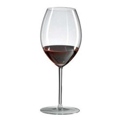 Ravenscroft Crystal - Crystal Hermitage Glass Set - Handmade in Europe with masterful attention to detail, this set of 4 Ravenscroft stemware glasses works well with your Shiraz, Hermitage and Cornas wines. Each glass holds up to 20 ounces of your preferred drink and show a slender bowl and tall, elegant stems. Set of 4. As featured in Wine & Food and In Style Magazine. Capacity: 20 oz.. 9.25 in. H. Best with Amarone, Barbera, Chateauneuf-du-Pape, Cornas, Cote Rotie, Crozes-Hermitage, Grenache, Hermitage, Malbec, Mourvedre, Petit Sirah, Priorat, Shiraz, Syrah and St. Joseph varietalsWith a tall tightened bowl the Ravenscroft Crystal Hermitage glass is perfect for medium level alcohol, spicy, white pepper sweet black fruit nose of great cool climate northern Rhone reds. The conflicting need to buffer alcohol against the desire to concentrate the pleasurable exotic nose of cool climate syrah is beautifully achieved by them. The Ravenscroft Crystal Hermitage glass. This glass is not appropriate for the high alcohol great wines of the southern Rhone. Like all Ravenscroft Crystal, the whisper light Ravenscroft Crystal Hermitage glass is hand-made in Europe from brilliant lead-free crystal.