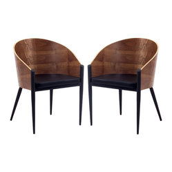 Philippe Starck Style Pratfall Chair Set of 2
