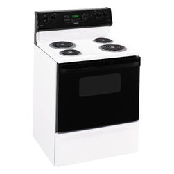 "GE - Hotpoint Electric Range, 30"" - Self-cleaning oven"