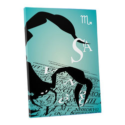 """PingoWorld - Zodiac Sign Scorpio Gallery Wrapped Canvas Print, 30""""x20""""x1.25"""" - Zodiac Sign Scorpio. Gallery wrap on archival quality canvas using Epson Ultra-Chrome inks and pine wood frames."""