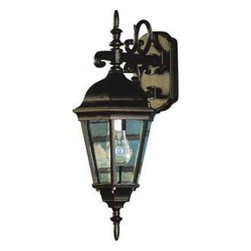 Artcraft Lighting - Artcraft Lighting AC8311RU Tudor Rust Outdoor Wall Sconce - Bring a touch of old-world European style to your home's exterior. Light your porch or frame your garage door with a pair of these lanterns. The look will instantly create a stately effect while lighting your way beautifully.