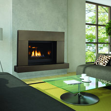 Contemporary Indoor Fireplaces by Rustic Brick and Stone