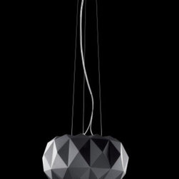 "Leucos - Leucos Deluxe pendant light - The Deluxe pendant light by Leucos  is designed by Archirivolto. It is comprised of a contemporary, black chromed metal - a design inspired by the ancient culture of grinding glass with a modern effect. This collection is offered with ceiling and table versions.  Product Description:  The Deluxe pendant light by Leucos  is designed by Archirivolto. It is comprised of a contemporary, brown chromed metal - a design inspired by the ancient culture of grinding glass with a modern effect. This collection is offered with ceiling and table versions.     Manufacturer:  Leucos    Designer:   Archirivolto     Made in: Italy   Dimensions:   width: 13 3/4"" ( 35 cm) x height: 47 1/4"" ( 120 cm)      Light bulb:   1 x 200W Halogen     Material:  chromed metal"