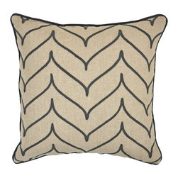 Array Grey Pillow - Beautifully handmade and hand woven, each pillow is made with a quality fill of 95% feather and 5% down. The Villa Home collection offers a variety of colors, textures and accents that will add a feeling of luxury to your home.