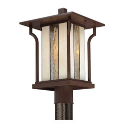 Quoizel Lighting - Quoizel LNG9011CHB Langston Chocolate Bronze Outdoor Post Light - 1, 100W A19 Medium