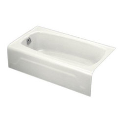 KOHLER - KOHLER K-745-0 Seaforth Bath with Left-Hand Drain - KOHLER K-745-0 Seaforth Bath with Left-Hand Drain in White