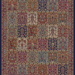 """Concord Global - Concord Global Jewel Panel Red 6'7"""" x 9'6"""" Rug (4080) - Jewel collection is machine-made in Turkey using 100% heat-set polypropelene. These traditional to contemporary rugs will make a colorful addition to any area."""