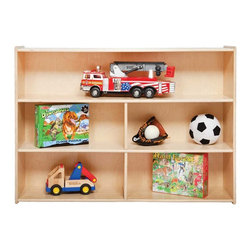 Contender - Contender Versatile Single Storage Unit - 3 Shelves Multicolor - C13630 - Shop for Childrens Toy Boxes and Storage from Hayneedle.com! Toys like children's imaginations manifest in a plethora of forms. That's why versatile storage space is essential to a truly clean play area at home or school. The Wood Designs Contender Versatile Single Storage Unit has three shelves with ample room and divisions to keep things organized and accessible.Being certified by the Greenguard Environmental Institute ensures the highest safety and environmentally responsible standards were adhered to during the conception and construction of this furniture. Certified products are intended to be suitable for environments your children spend significant time in so you can feel at ease having them in your home or seeing them in your child's school or daycare.About WDM Inc.For 30 years Wood Designs has put passion for the enrichment and safety of children into quality wooden early learning furniture. Dennis and Debbie Gosney the couple behind this labor of love have taken their 50 years combined experience in child development furniture manufacturing and built a company at the forefront of innovation and safety.Intuitive design coupled with novel safety features like Pinch-me-not hinges and Tip resistant furniture set Wood Designs apart from the typical early learning furniture manufacturers.