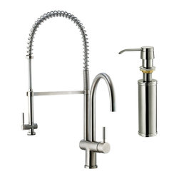 Vigo Industries - 13 in. Kitchen Faucet with Self Priming Soap Dispenser - This stylish and durable faucet is sure to give your kitchen sink a new look.
