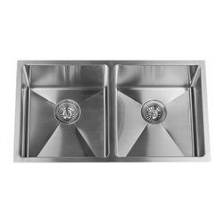 "Miseno - Miseno 32"" Undermount Double Basin Stainless Steel Kitchen Sink 50/50 Split 16G - Included Free with Your Miseno Sink:"