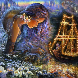 Murals Your Way - Star Ship Wall Art - Painted by Josephine Wall, the Star Ship wall mural from Murals Your Way will add a distinctive touch to any room