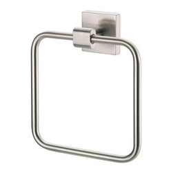 Gatco - Gatco Elevate Towel Ring - 640042 - Shop for Towel Bars Hooks and Rings from Hayneedle.com! About Gatco Fine BathwareGatco Fine Bathware is a privately held corporation based in the San Francisco Bay Area. For over 30 years Gatco s designs high-quality and smart value have made them the premier choice of consumers. Their line of designer bath collections ranges from traditional to modern making it easy to find bath products that complement your style. Towel bars mirrors grab bars shower curtain rods hooks and free-standing countertop accessories round out their extensive product list.