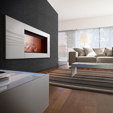 Contemporary Indoor Fireplaces by Suncoast Fireplaces