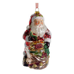 Silk Plants Direct - Silk Plants Direct Glass Santa Ornament (Pack of 6) - Pack of 6. Silk Plants Direct specializes in manufacturing, design and supply of the most life-like, premium quality artificial plants, trees, flowers, arrangements, topiaries and containers for home, office and commercial use. Our Glass Santa Ornament includes the following: