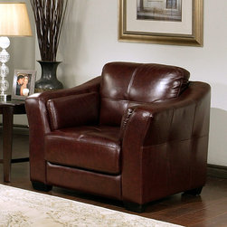 Miranda Italian Leather Armchair - Add extra comfort to your living room with the innovative Italian Leather Armchair. Elegant and marvelous, this exceptional goodie offers comfort, room, space and enjoyment, generating upscale relaxation. Its Dark Burgundy complexion brings the best out of condos. In addition to comfort, it's well-crafted from the finest material to assure perfection, balance and support. Yes, it's the perfect piece of furniture.