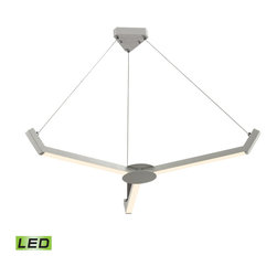 "Elk Lighting - Elk Lighting Zuno Collection Led Chandelier In Matte White - 50007/3 - Led Chandelier In Matte White - 50007/3 in the Zuno collection by Elk Lighting The Zuno chandelier, finished in Matte White, features three sleek ""blades"" of clean, LED light.  This triangular design, made from aluminum, will add excitement to modern environments while remaining minimalistic in appearance.   Chandelier (1)"