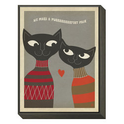 Artcom - Cats Purrfect Pair by Anderson Design Group - Cats Purrfect Pair by  Anderson Design Group is a Framed Print Mount.