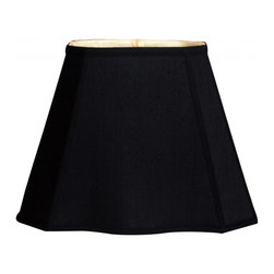 """Royal Designs, Inc"" - Fancy Bottom Rectangle Basic Lampshade - Black / Gold (7 x 10) x (12.25 x 18) x - ""This Fancy Bottom Rectangle Basic Lampshade is a part of Royal Designs, Inc. Timeless Basic Shade Collection and is perfect for anyone who is looking for a traditional yet stunning lampshade. Royal Designs has been in the lampshade business since 1993 with their multiple shade lines that exemplify handcrafted quality and value.