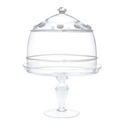 Juliska - Juliska Isabella Large Cake Dome Pedestal Set Clear - Juliska Isabella Large Cake Dome-Ped. Set Clear. Juliska glass is mouth-blown by artisans in the hills outside Prague. The techniques they use have been passed down through generations. To watch these skilled glassmakers work is breathtaking. Being handmade, no two pieces of Juliska are identical. Each has its own exquisite, individual character. Uniqueness is valued and guaranteed. Every piece of Juliska glass is individually signed as a hallmark of its origin and authenticity. With such heritage, attention to detail and beauty, it is no wonder Juliska glass is extraordinary.