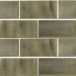 "Glass Tile Oasis - Charcoal 3"" x 6"" Grey Tapestry Handmade Tile Glossy Ceramic - Tile Size:  3"" x 6""        Tile thickness:  1/4""        Handcrafted Ceramic Tile-8 pieces per Sq. Ft.       Sold by the square foot        -  Shade and size variations are inherent characteristics in all handcrafted ceramic tile. Orders ship within 2-3 weeks."