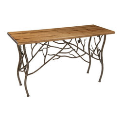 Rustic Pine Console Table by Stone County Ironworks - Dimensions: