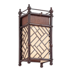 Kichler - Kichler 43254CYZ Rum Cove Cayman Bronze 2 Light Wall Sconce - Finish: Cayman Bronze