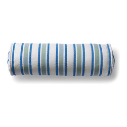 Frontgate - High Speed Capri Outdoor Bolster Pillow - 100% Sunbrella® solution-dyed acrylic fabric. High-density polyester fill. Resists fading, mold and mildew. Spot clean with mild soap and water; air-dry only. Carefully crafted of 100% Sunbrella solution-dyed acrylic woven fabric, the High Speed Capri Outdoor Pillow includes a chenille accent stripe among the other vivid colors. Sewn closed and finished with outdoor trim, this Frontgate exclusive is a wonderful way to brighten up any outdoor area. 100% Sunbrella solution-dyed acrylic fabric .  .  .  . Made in the USA.