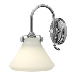 Hinkley Lighting - Hinkley Lighting 3170CM Congress 1 Light Wall Sconces in Chrome - Congress is a traditional design that combines both hip and historical elements. This chic retro glass, mix and match collection comes in different shapes, colors and materials and is the perfect vintage accent to any d�cor.