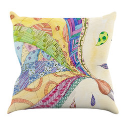 """Kess InHouse - Catherine Holcombe """"The Painted Quilt"""" Throw Pillow (16"""" x 16"""") - Rest among the art you love. Transform your hang out room into a hip gallery, that's also comfortable. With this pillow you can create an environment that reflects your unique style. It's amazing what a throw pillow can do to complete a room. (Kess InHouse is not responsible for pillow fighting that may occur as the result of creative stimulation)."""