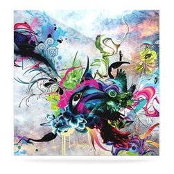 """Kess InHouse - Mat Miller """"Streaming Eyes"""" Multicolor Abstract Metal Luxe Panel (8"""" x 8"""") - Our luxe KESS InHouse art panels are the perfect addition to your super fab living room, dining room, bedroom or bathroom. Heck, we have customers that have them in their sunrooms. These items are the art equivalent to flat screens. They offer a bright splash of color in a sleek and elegant way. They are available in square and rectangle sizes. Comes with a shadow mount for an even sleeker finish. By infusing the dyes of the artwork directly onto specially coated metal panels, the artwork is extremely durable and will showcase the exceptional detail. Use them together to make large art installations or showcase them individually. Our KESS InHouse Art Panels will jump off your walls. We can't wait to see what our interior design savvy clients will come up with next."""