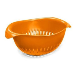 Preserve Small Colander - Orange - 1.5 Qt - Made in USA from 100% Recycled Materials Including Food Storage Containers