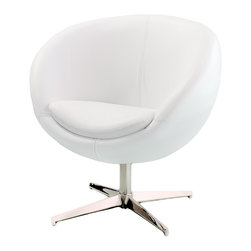 Great Deal Furniture - Sphera Modern Design Accent Chair - Get comfortable with a great modern look! Add a unique modern flare to any room in your house with this comfortable and stylish modern design chair. The Bowl Shape Modern Design Accent Chair will certainly be a focal point of your room.