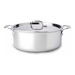 All Clad - All Clad SS Stockpot, 6 qt. - Timeless design, outstanding performance, effortless cleaning and lifetime durability come together to make the Stainless Collection cookware  All-Clads most popular. Featuring innovative bonded construction combining an interior layer of aluminum for even heating and an 18/10 stainless cooking surface for optimum culinary performance, All-Clad Stainless cookware is a classic expression of ideal form and function. Premium tri-ply construction with an aluminium core to deliver even heat distribution.