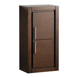 Fresca - Fresca Wenge Bathroom Linen Side Cabinet w/ 2 Doors - This attractive hanging side cabinet comes in a Gray Oak finish. It features 2 spacious areas with 2 soft closing doors. It matches nicely with any Gray Oak vanity.
