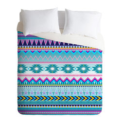 DENY Designs - Iveta Abolina Tribal Teal Duvet Cover - Turn your basic, boring down comforter into the super stylish focal point of your bedroom. Our Luxe Duvet is made from a heavy-weight luxurious woven polyester with a 50% cotton/50% polyester cream bottom. It also includes a hidden zipper with interior corner ties to secure your comforter. it's comfy, fade-resistant, and custom printed for each and every customer.
