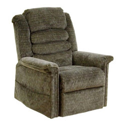 "Catnapper - Catnapper Soother Power Lift Full Lay-Out Recliner Chair in Woodland - Catnapper - Recliners - 4825180015 -This Soother ""Power Lift"" Full Lay-Out Chaise Recliner by Catnapper combines great style, incredible comfort and functionality. This recliner features comfortable waterfall back and plush chaise seating. It is upholstered in luxurious chenille fabric available in autumn, vino, galaxy, and woodland. With its steel seat box it provides 350 Lb. weight capacity. Additionally, this power lift recliner features deluxe massage with heat and is provided with remote control and magazine pocket. Kick off your shoes and enjoy!"