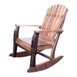 Groovystuff - Groovystuff Adirondack Rocking Chair in Honey - Features: