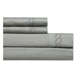 None - Cable Embroidered 800 Thread Count Easy-care 4-piece Sheet Set - These easy care sheets are made from 800 Thread Count cotton blended with polyester for wrinkle-free durability,they retain their shape and wonderful softness. The fitted sheet fits mattresses up to 18 inches deep.