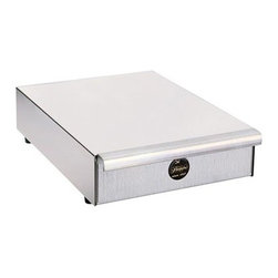 """Pasquini - Pasquini Single Drawer Stainless Steel Base - Pasquini stainless steel single draw base. This single drawer knock out base is perfect for the home Livia 90 espresso machine, which fits on top of it, or under a commercial grinder next to a commercial espresso machine. Dimensions:4"""" H x 12"""" W x 16"""" Depth. Origin: Italy."""