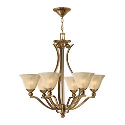 Hinkley Lighting - Hinkley Lighting 4656BR Bolla Brushed Bronze 6 Light Chandelier - Hinkley Lighting 4656BR Bolla Brushed Bronze 6 Light Chandelier