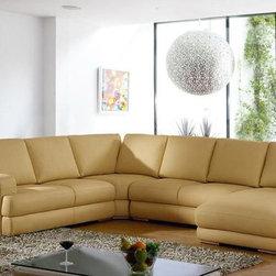 Luxurious Full Italian Leather L-shape Furniture - Features: