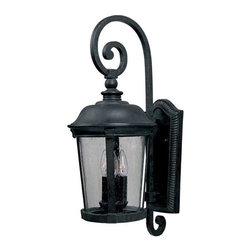 Maxim Lighting - Maxim Dover Cast 3-Light Outdoor Wall Lantern Bronze - 3024CDBZ - Dover Cast is a traditional, Mediterranean style collection from Maxim Lighting Interior in Bronze finish with Seedy glass.