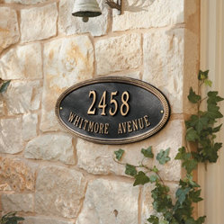 Beaded Oval Outdoor Signs