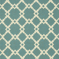 """Loloi Rugs - Loloi Rugs Ventura Collection - Turquoise/Ivory, 7'-10"""" Round - Set the foundation for a beautiful outdoor arear with the well-designed Ventura Collection.  Hand-hooked in China of 100% polypropylene, Ventura's fresh geometric patterns and bright, on-trend colors will immediately update your patio or poolside with can't-miss style.  Each Ventura rug is specially treated to withstand UV rays, rain, mold, and mildew, so it'll remain bold and bright no matter what weather nature brings."""